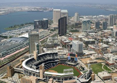 University of San Diego Summer Petco Park Aerial View