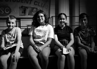 Bloxham school students sitting