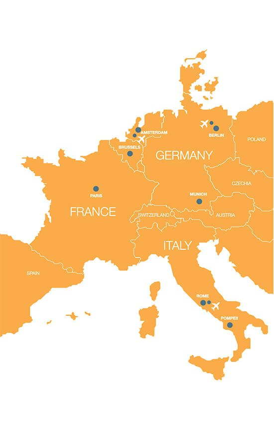 Europe Tour Map